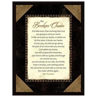 Dexsa Broken Chain Wood Frame Plaque with Easel