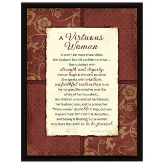 Dexsa Virtuous Woman Wood Frame Plaque with Easel