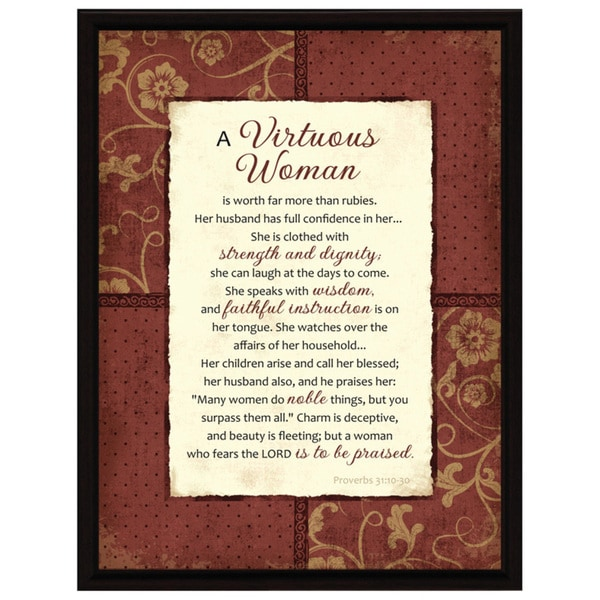 Dexsa Virtuous Woman Wood Frame Plaque with Easel - Free Shipping On ...