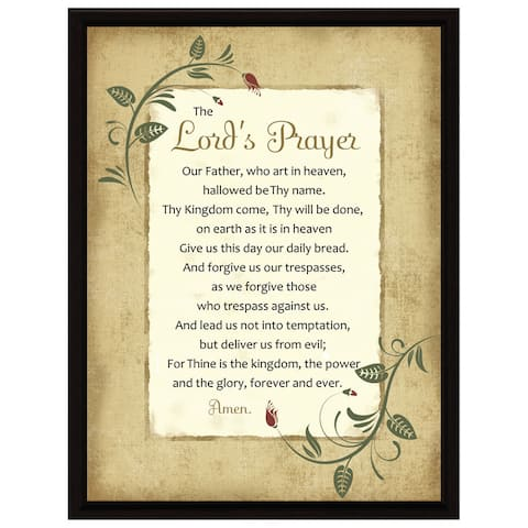 Dexsa Lord's Prayer Wood Frame Plaque with Easel