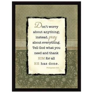 Dexsa Don't Worry About Wood Frame Plaque with Easel