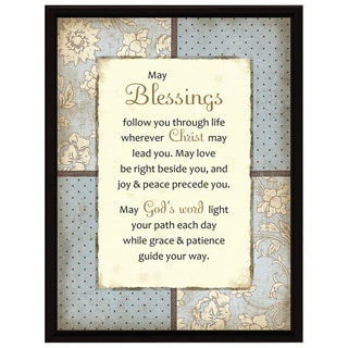 Dexsa May Blessings Wood Frame Plaque with Easel