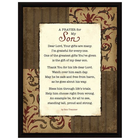 Dexsa Prayer..My Son Wood Frame Plaque with Easel