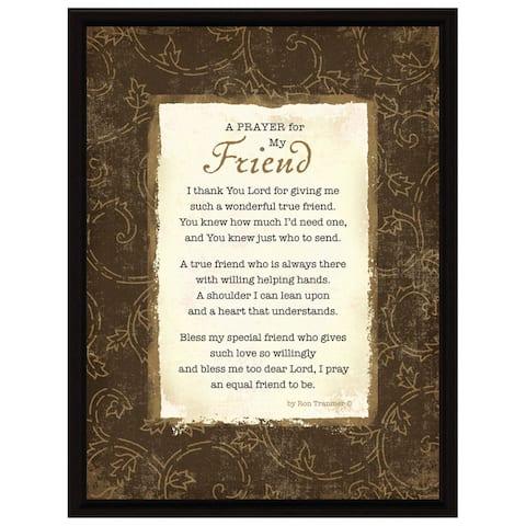 Dexsa Prayer..My Friend Wood Frame Plaque with Easel