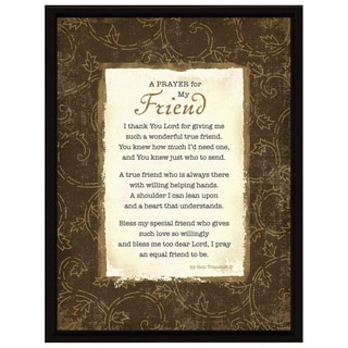 Dexsa Prayer..My Friend Wood Frame Plaque with Easel