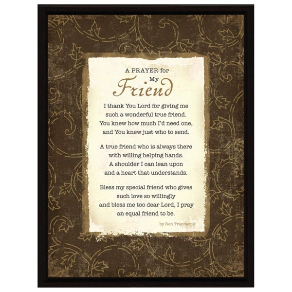 Dexsa Prayer..My Friend Wood Frame Plaque with Easel - Free Shipping ...