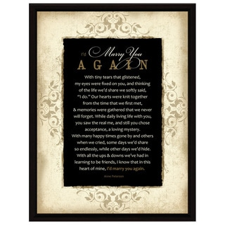 Dexsa I'd Marry You Wood Frame Plaque with Easel