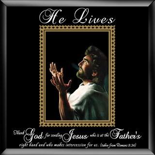 Dexsa He Lives-Jesus Hands Glass Photo Frame with Easel
