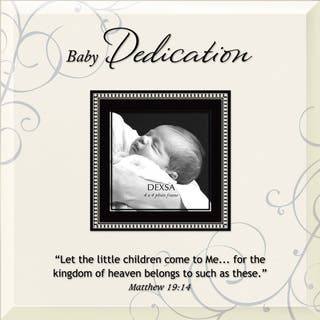 Dexsa Baby Dedication Beveled Glass Photo Frame with Easel