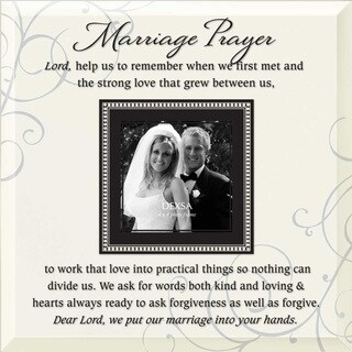 Dexsa Marriage Prayer Beveled Glass Photo Frame with Easel