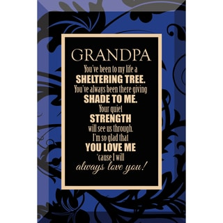 Dexsa Grandpa Beveled Glass Plaque with Easel