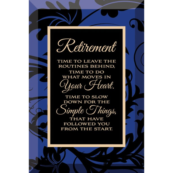 Shop Dexsa Retirement Beveled Glass Plaque With Easel