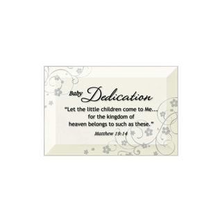 Dexsa Baby Dedication Beveled Glass Plaque with Easel