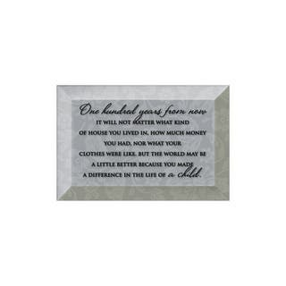 Dexsa One Hundred Years Beveled Glass Plaque with Easel
