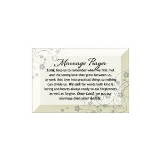 Dexsa Marriage Prayer Beveled Glass Plaque with Easel
