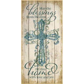 Dexsa May The Blessings From Heaven Wood Plaque
