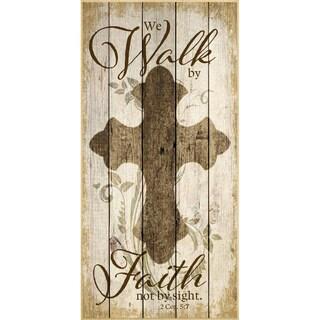 Dexsa We Walk By Faith Wood Plaque