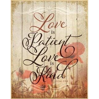 Dexsa Love Is Patient Wood Plaque