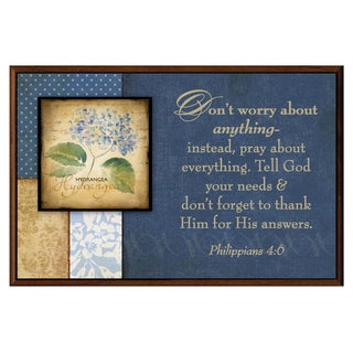 Dexsa Don't Worry About Anything Wood Plaque with Easel