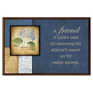 Dexsa A Friend Is God's Way Wood Plaque with Easel