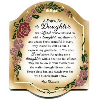 Shop Dexsa Prayer My Daughter Embossed Wood Plaque With