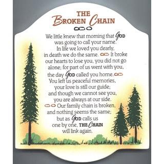 Dexsa Broken Chain Embossed Wood Plaque with Easel