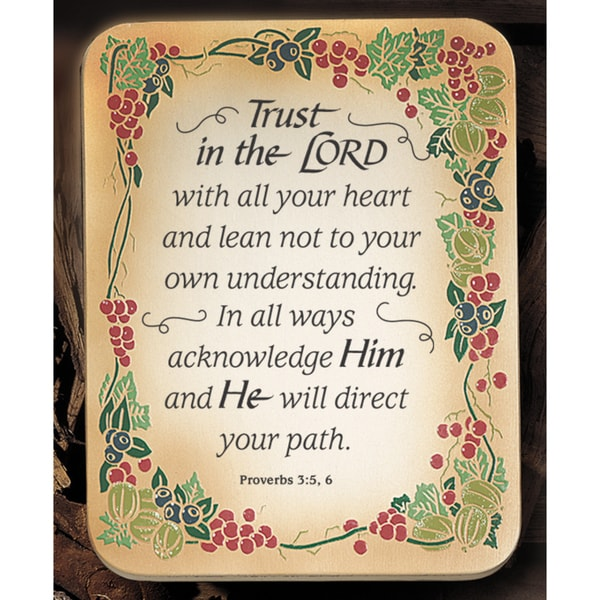 b14c6b303e6f Shop Dexsa Trust In The Lord Embossed Wood Plaque with Easel - Free ...