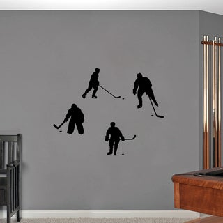 Hockey Players Small Wall Decals