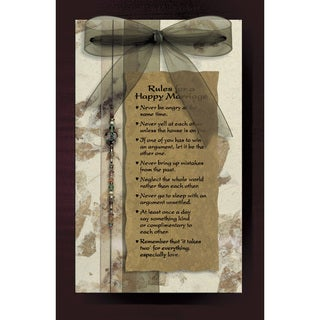 Dexsa Rules Of A Happy Marriage Wood Plaque