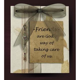 Dexsa Friends Are God's Wood Plaque