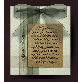 Dexsa May Blessings Wood Plaque