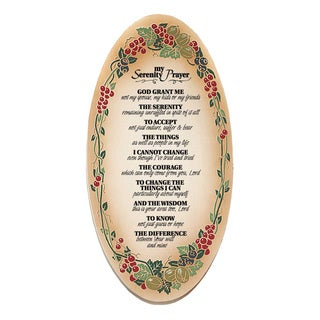 Dexsa My Serenity Prayer Embossed Wood Plaque with Easel