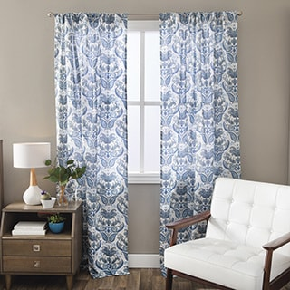 Andrew Charles Paisley Park Collection Floral Cotton Curtain Panel