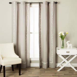 Andrew Charles Snow Leopard Collection Animal Print Cotton Curtain Panel (2 options available)