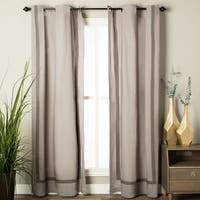 Andrew Charles Atlas Collection Solid Cotton Curtain Panel