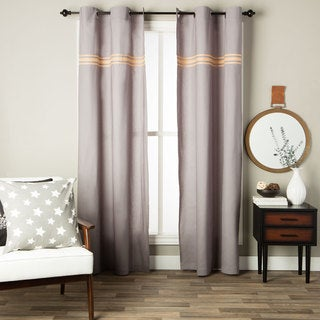 Andrew Charles Ogee Collection Solid Cotton Curtain Panel