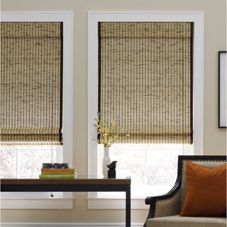 Tortoise Natural Bamboo Roman Shade (More options available)
