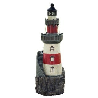 Peaktop Rotating Solar Powered Light House Fountain