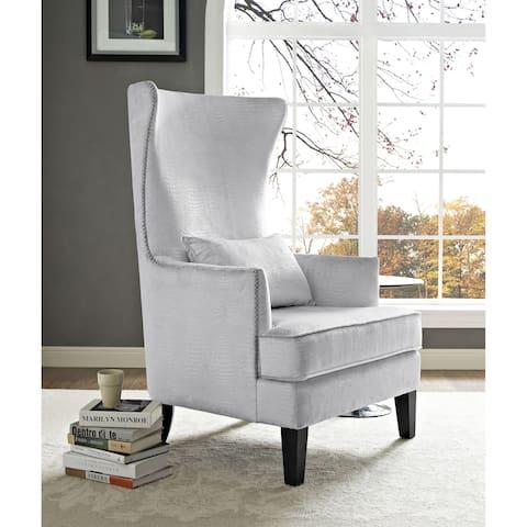 Bristol Silver Croc Tall Chair