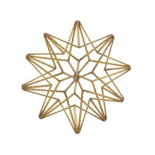 Metal Star Table Decor 9-inch x 9-inch Accent Piece