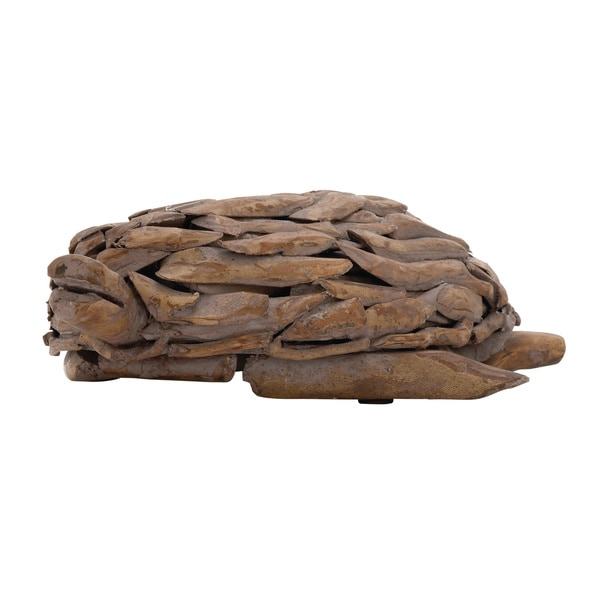 Wood Tortoise 13-inch x 3-inch Accent Piece