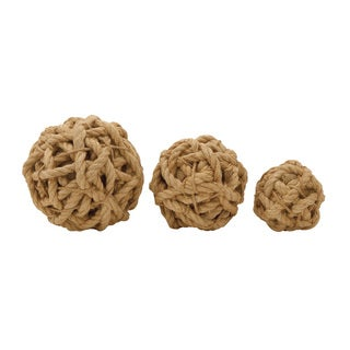 Simple Jute Ball Set of 3 4-inch/ 7-inch/ 8-inch Deep Accent Piece