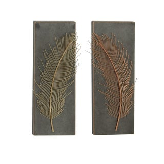 Metal Wall Panel 2 Assorted 12-inch x 32-inch Accent Piece