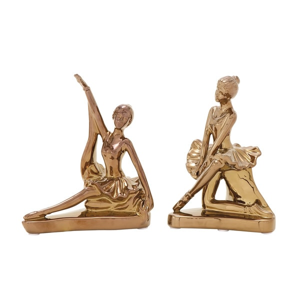 Set of 2 Dancer Figurines 6-inch x 11-inch Accent Piece