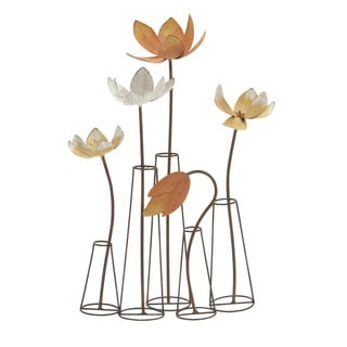 Scintillating Metal Table Decor Accent Piece