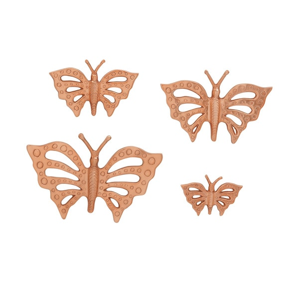 Aluminum Butterfly Set of 4 11-inch/ 9-inch/ 7-inch/ 5-inch Accent Piece