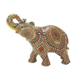 The Curated Nomad Merced Polystyrene Elphant Accent Piece