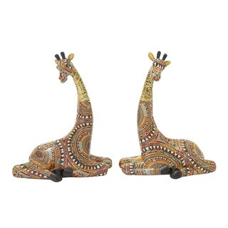 The Curated Nomad Polystyrene Giraffe Accent Piece (Set of 2)