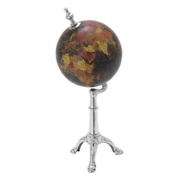Metal Pvc Globe 6-inch x 15-inch Accent Piece