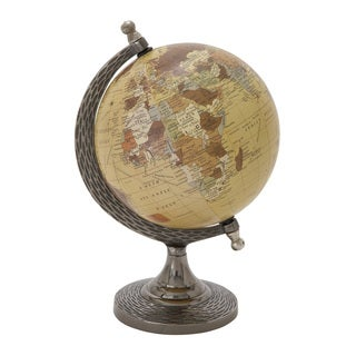 And Metal Pvc Globe 7-inch x 10-inch Accent Piece